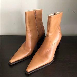 BCBG Paris Leather Ankle Boots